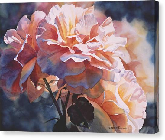 Red Roses Canvas Print - Afternoon Rose  by Sharon Freeman