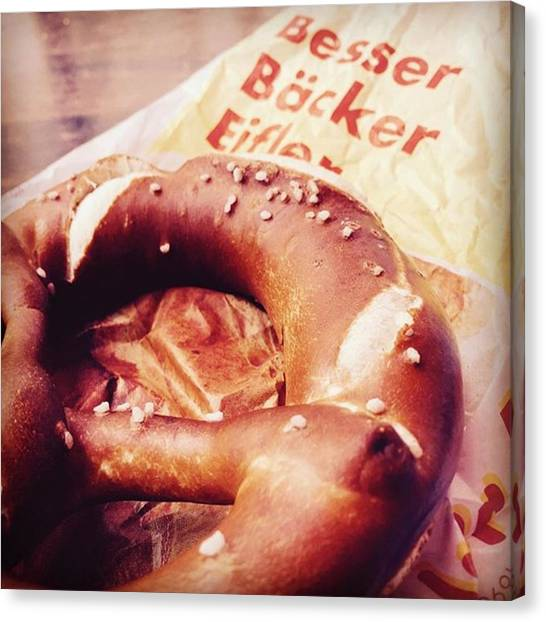 German Canvas Print - German Pretzel by Nancy Ingersoll