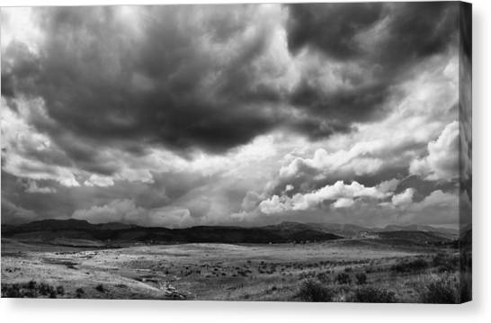 Afternoon Storm Couds Canvas Print