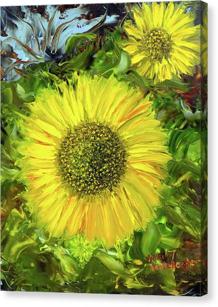 Afternoon Sunflowers Canvas Print