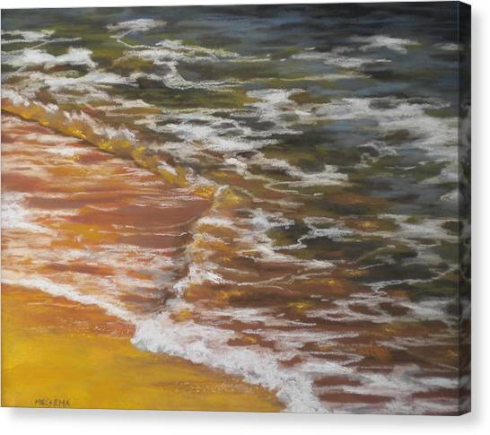Afternoon Swim Canvas Print by Cheri Halsema