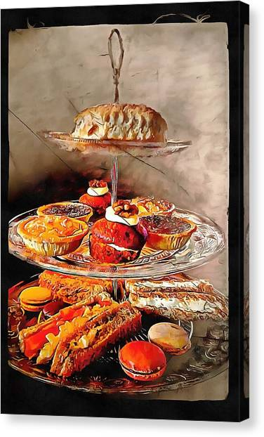 Mayonnaise Canvas Print - Afternoon Tea Anyone by Dorothy Berry-Lound