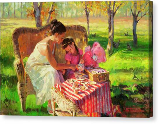 Celebration Canvas Print - Afternoon Tea Party by Steve Henderson