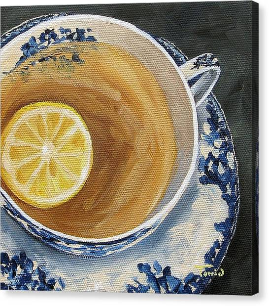 Tea Canvas Print - Afternoon Tea  by Torrie Smiley