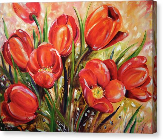Canvas Print - Afternoon Tulips by Laurie Pace