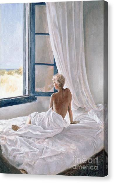 Window Canvas Print - Afternoon View by John Worthington