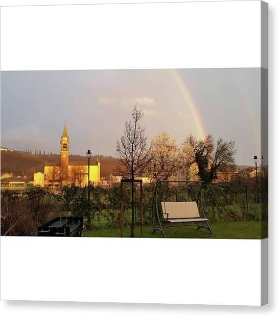 Yen Canvas Print - #afterthestorm #rainbow by Yen Ong
