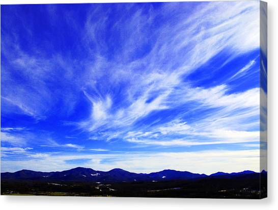 Afton Sky And Mountains I Canvas Print by Richard Singleton