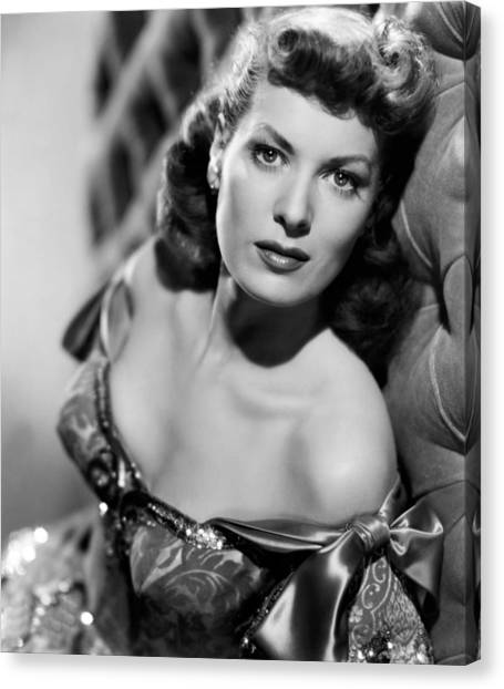 1950s Movies Canvas Print - Against All Flags, Maureen Ohara, 1952 by Everett