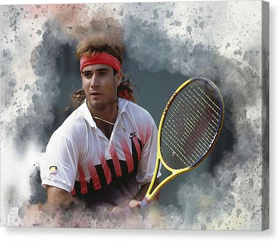 Andre Agassi Canvas Print - Agassi by Karl Knox Images