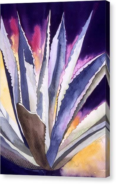 Agave 5 Canvas Print by Eunice Olson