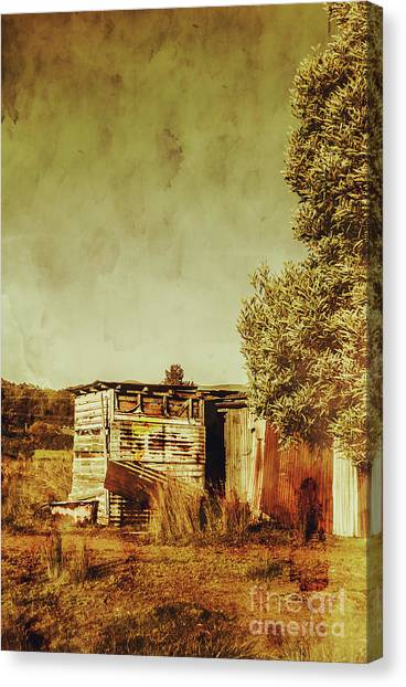 Dilapidated Canvas Print - Aged Australia Countryside Scene by Jorgo Photography - Wall Art Gallery
