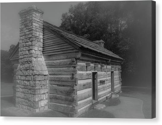 Canvas Print featuring the photograph Aged Cabin At The Hermitage by James L Bartlett
