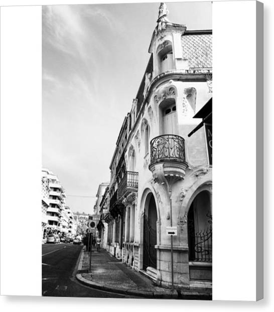 French Canvas Print - #agen #france #travel #bw by Georgia Fowler