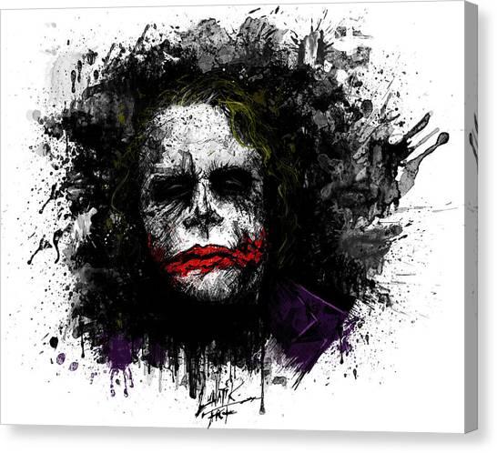 Heath Ledger Canvas Print - Agent Of Chaos by Thomas Everett