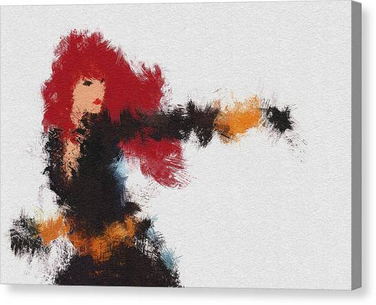 Black Widow Canvas Print - Agent Red by Miranda Sether