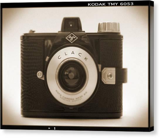 Vintage Camera Canvas Print - Agfa Clack Camera by Mike McGlothlen