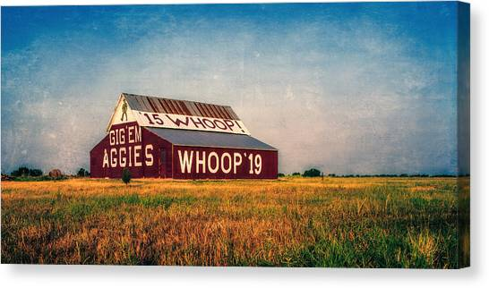 Texas A Canvas Print - Aggie Barn 2015 by Joan Carroll