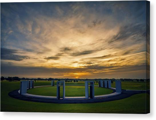 Texas A Canvas Print - Aggie Bonfire Memorial by Joan Carroll