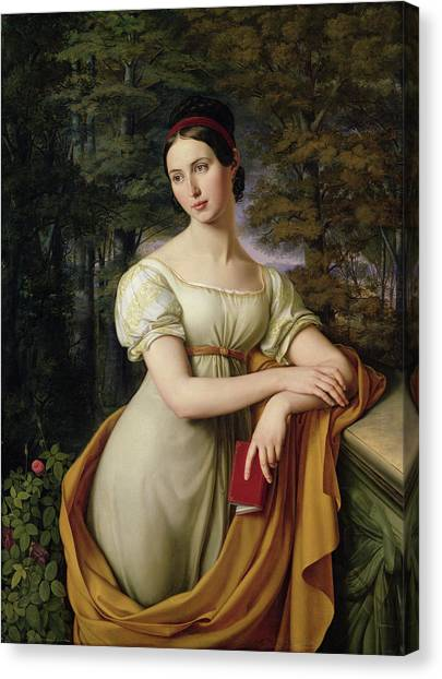Sculptors Canvas Print - Agnes Rauch by Wilhelm Schadow