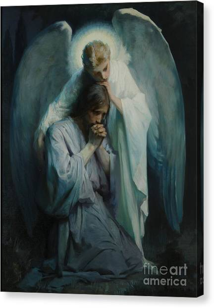 Biblical Canvas Print - Agony In The Garden  by Frans Schwartz