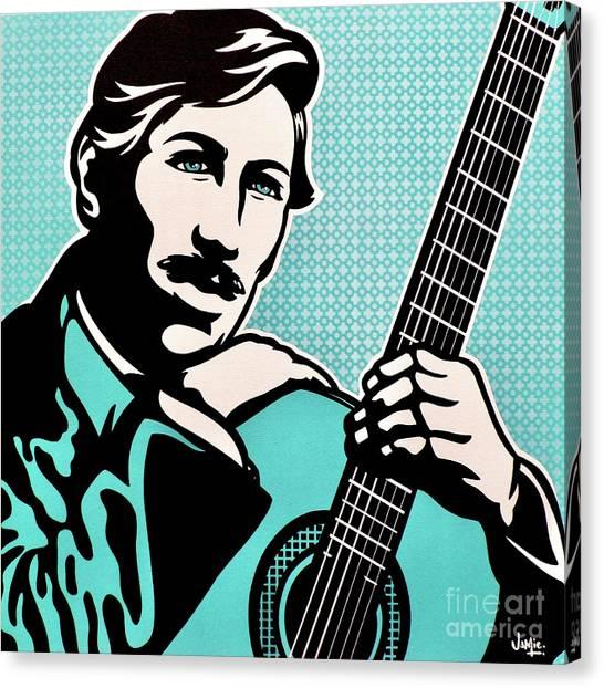 Classical Guitars Canvas Print - Agustin Barrios Mangore by James Lee