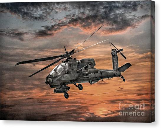 Ah-64 Apache Attack Helicopter Canvas Print