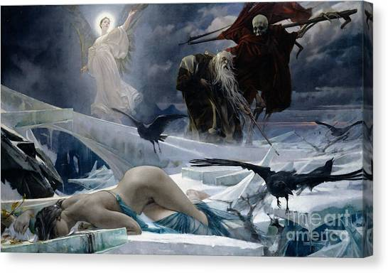 Persians Canvas Print - Ahasuerus At The End Of The World by Adolph Hiremy Hirschl
