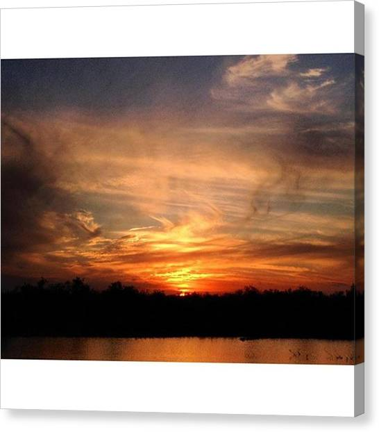 Everglades Canvas Print - Ahhhh... #bliss #broward  #clouds by Erin Ryan