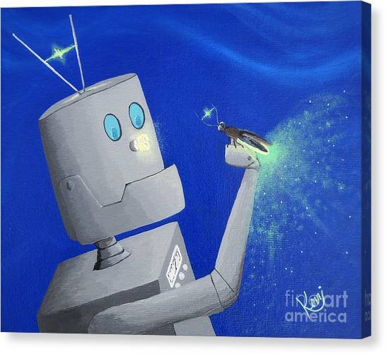 A.i. And The Firefly Canvas Print