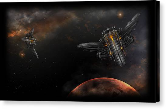 Star Wars Canvas Print - Ai War Fleet Command by Super Lovely