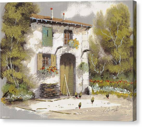 Old Houses Canvas Print - AIA by Guido Borelli