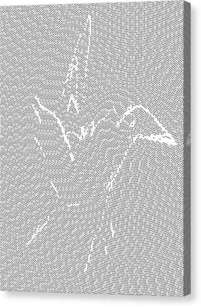 Canvas Print featuring the digital art Aibird by Robert Thalmeier