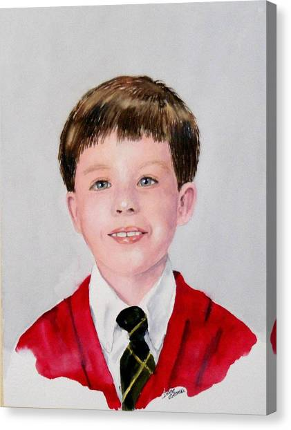 Aidan - Commissioned Portrait Canvas Print
