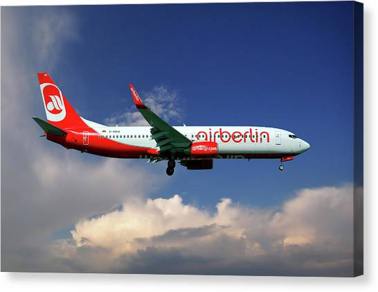 Boeing Canvas Print - Air Berlin Boeing 737-800 by Smart Aviation