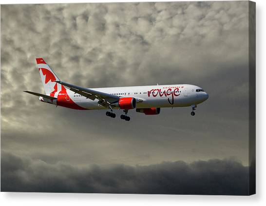 Canada Canvas Print - Air Canada Rouge Boeing 767-35h by Smart Aviation