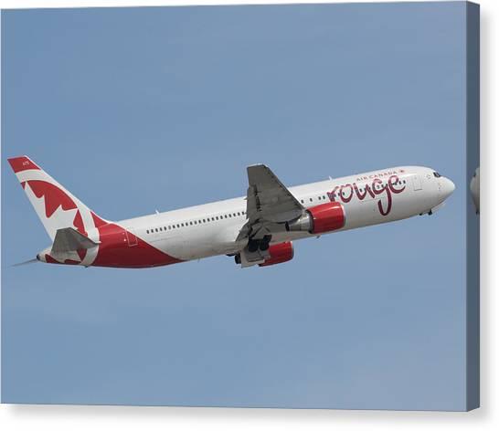 Air Canada Rouge Canvas Print