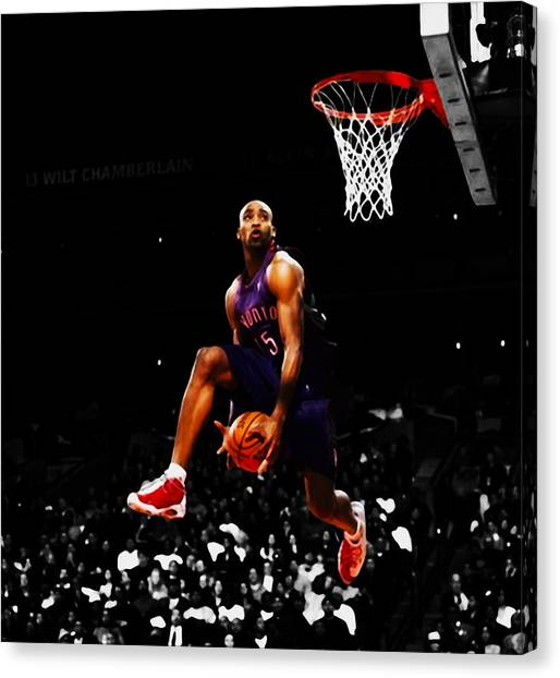 Dwight Howard Canvas Print - Air Canada Vince Carter by Brian Reaves