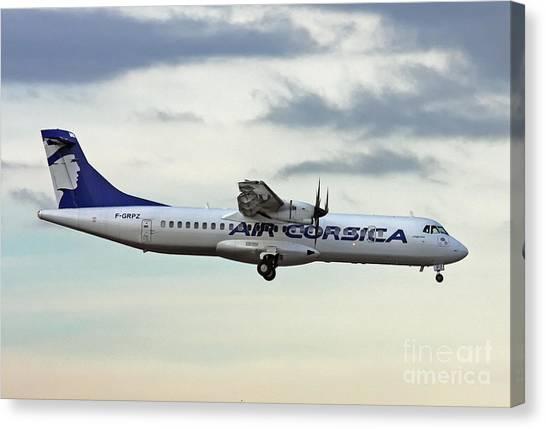 Air Corsica Atr 72-212a - F-grpz Canvas Print