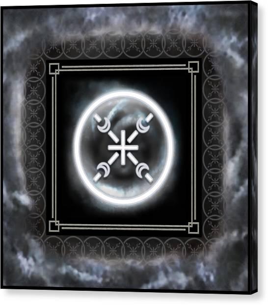 Canvas Print featuring the digital art Air Emblem Sigil by Shawn Dall