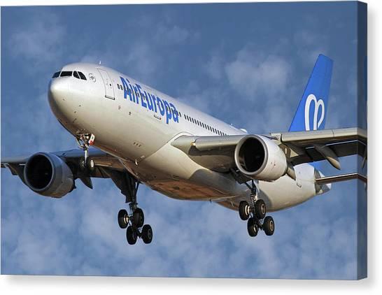 Soccer Leagues Canvas Print - Air Europa Airbus A330-202 1 by Smart Aviation