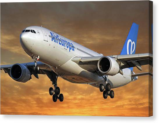 Europa Canvas Print - Air Europa Airbus A330-202 2 by Smart Aviation