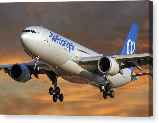 Europa Canvas Print - Air Europa Airbus A330-202 3 by Smart Aviation