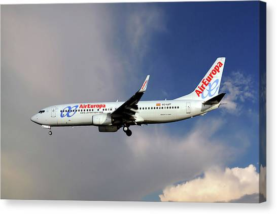 Europa Canvas Print - Air Europa Boeing 737-85p by Smart Aviation