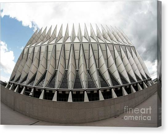 Colorado State University Canvas Print - Air Force Academy Chapel - I by David Bearden