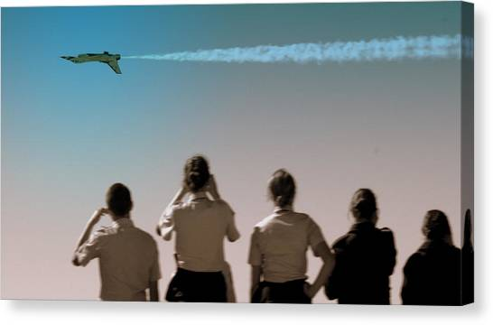 Rotc Canvas Print - Air Force In Force by Karen Musick