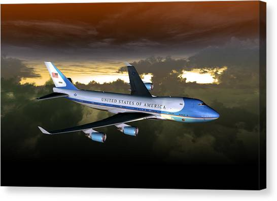 Air Force One 28.8x18 Canvas Print
