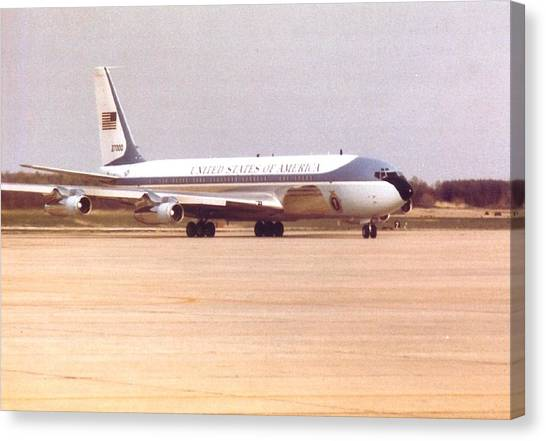 Air Force One At Andrews Air Force Base Canvas Print