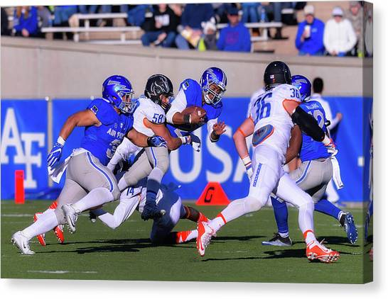 Colorado State University Canvas Print - Air Force Versus Boise State by Mountain Dreams