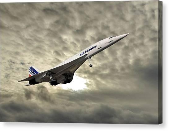 Passenger Plane Canvas Print - Air France Concorde 115 by Smart Aviation